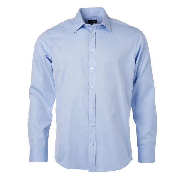 Men's Shirt Longsleeve Herringbone
