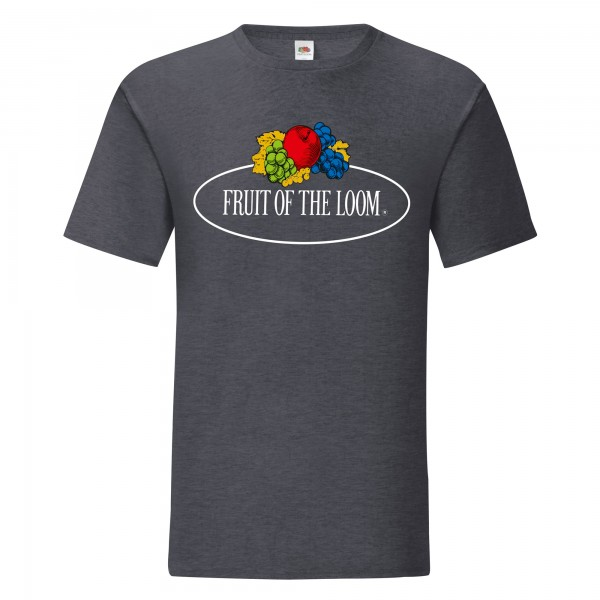 Fruit of the Loom Iconic T-Shirt mit Vintage-Logo
