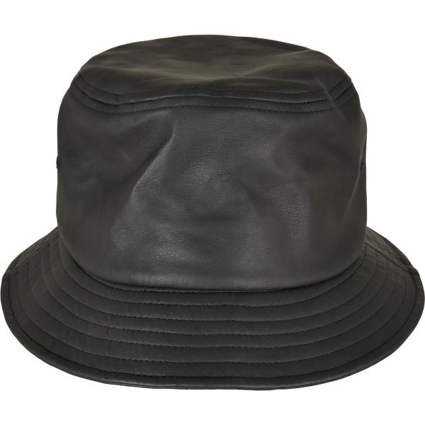 Imitation Leather Bucket Hat