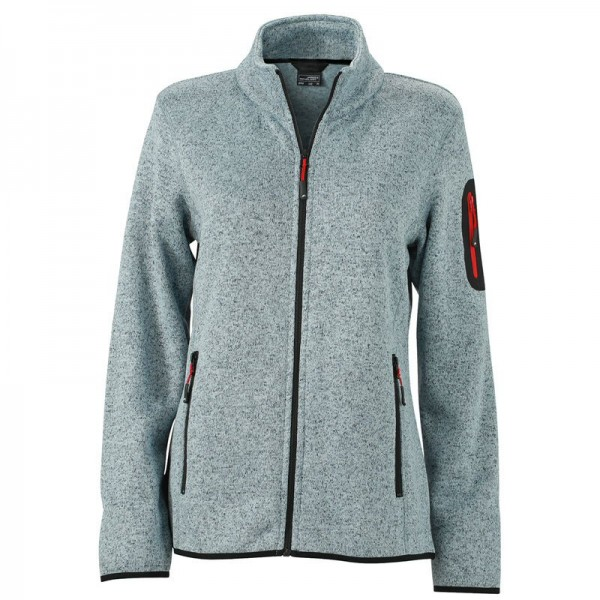 Ladies Knitted Fleece Jacket