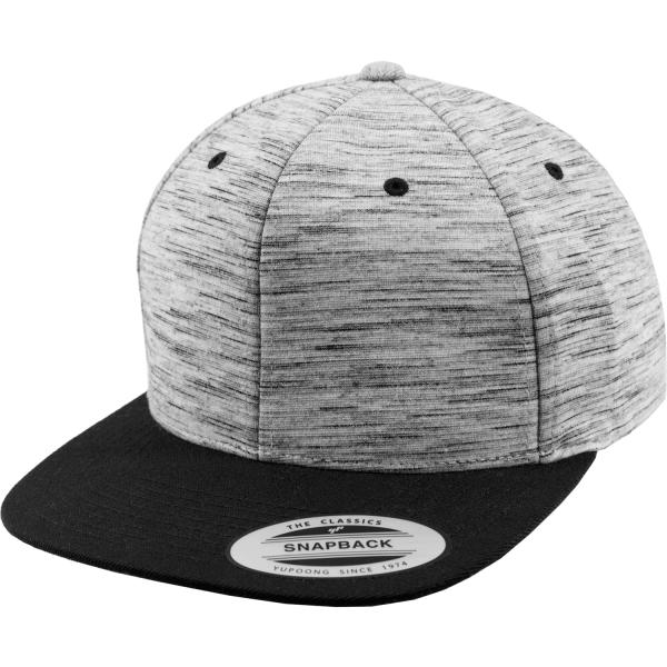 Stripes Melange Crown Snapback Cap