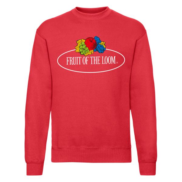 Fruit of the Loom Sweatshirt mit Vintage-Logo