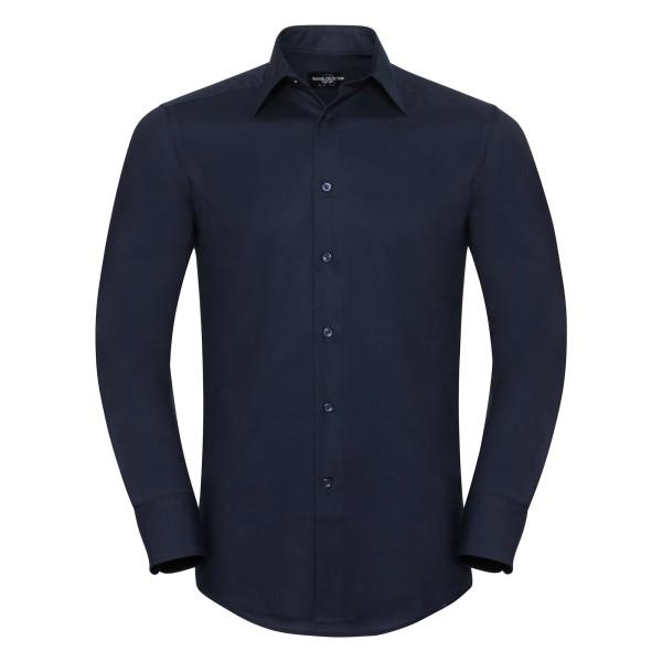 Tailliertes Oxford Hemd – Langarm