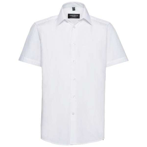 Men's Short Sleeve Tailored Poplin Shirt