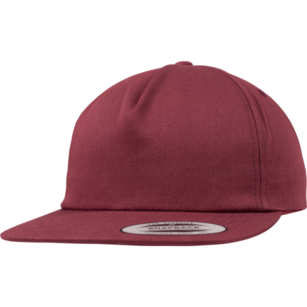 Unstructured 5-Panel Snapback Cap