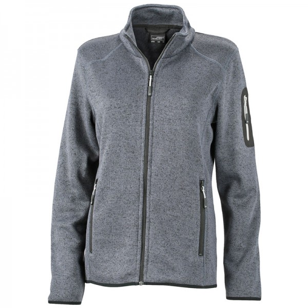 Ladies Knitted Fleece Jacket