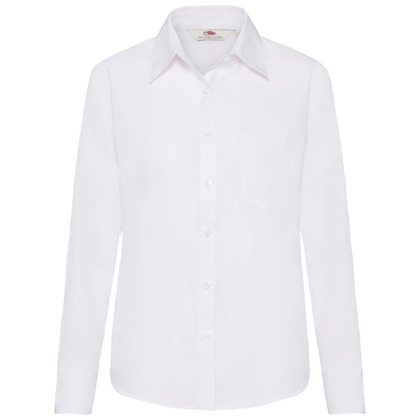 Ladies Poplin Shirt Long Sleeve