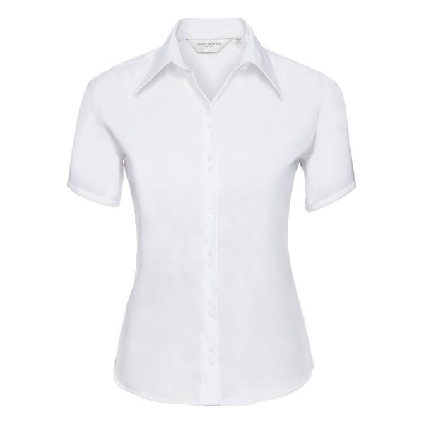 Taillierte bügelfreie Bluse – Kurzarm