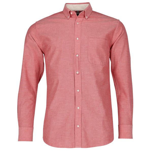 Men's Long Sleeve Tailored Washed Oxford Shirt