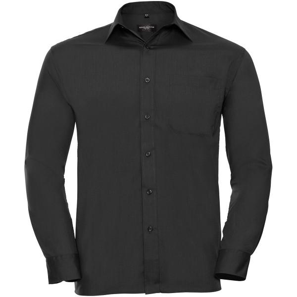 Men's Long Sleeve Classic Polycotton Poplin Shirt
