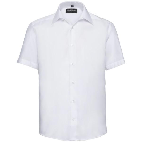 Tailliertes absolut bügelfreies Hemd - Kurzarm
