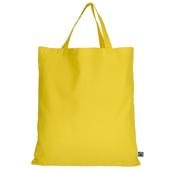Bag made of Fairtrade-Cotton with two short handles