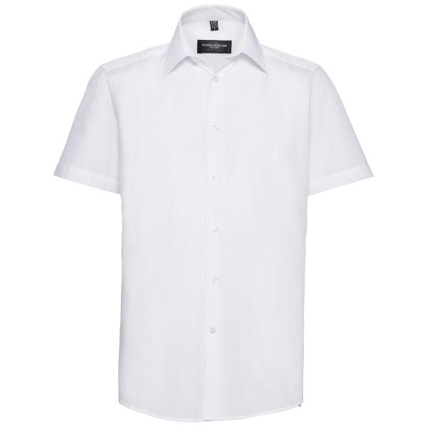 Tailliertes Popeline Hemd – Kurzarm