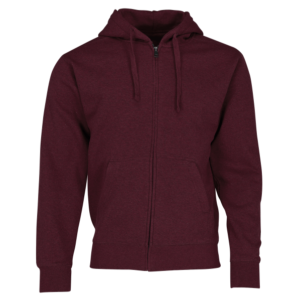 Authentic Melange Zipped Hood Sweat