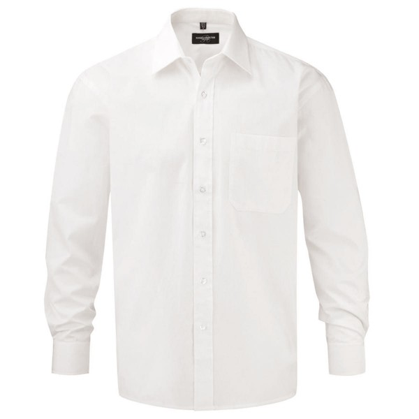 Men's Long Sleeve Classic Pure Cotton Poplin Shirt