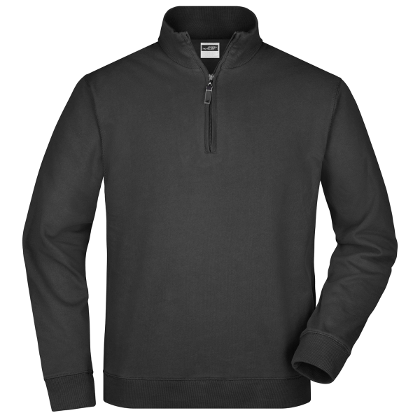 Round Neck Zip Sweat