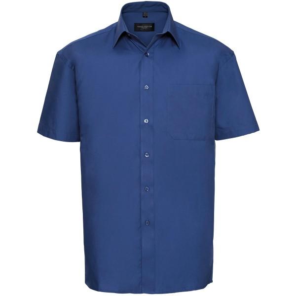 Klassisches Baumwoll Popeline Hemd – Kurzarm