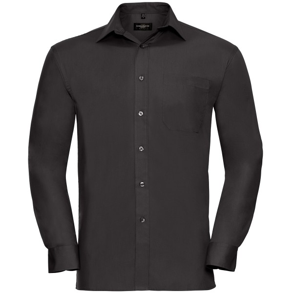 Klassisches Baumwoll Popeline Hemd – Langarm