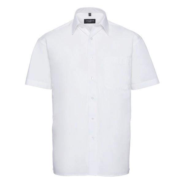 Men's Short Sleeve Classic Pure Cotton Poplin Shirt