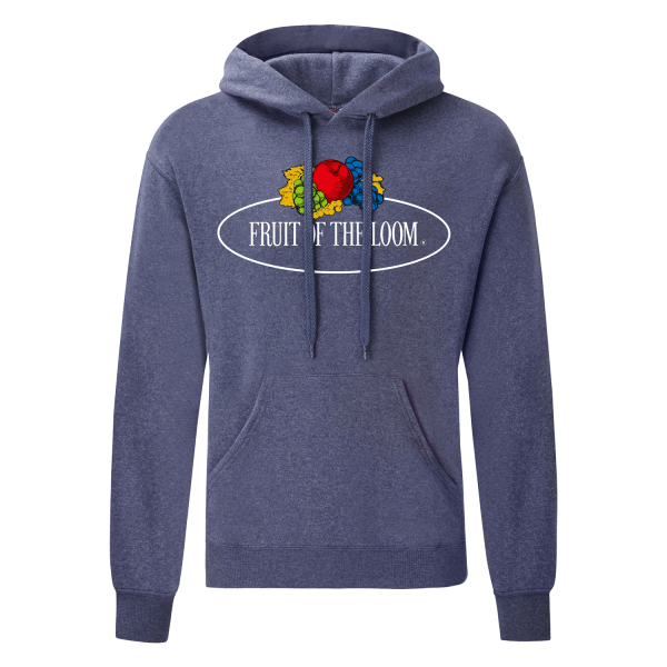 Fruit of the Loom Hooded Sweat with Vintage-Print