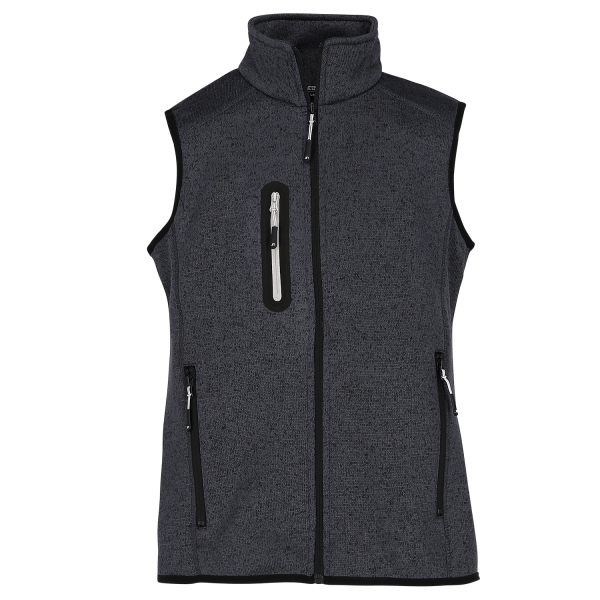 Ladies Knitted Fleece Vest