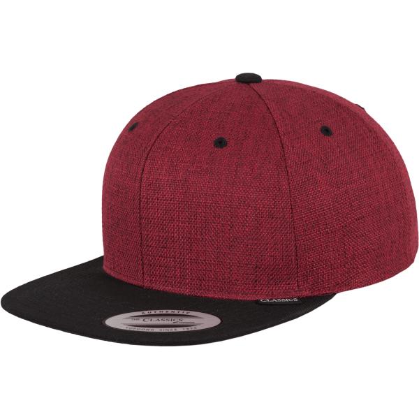Melange 2-Tone Snapback Cap
