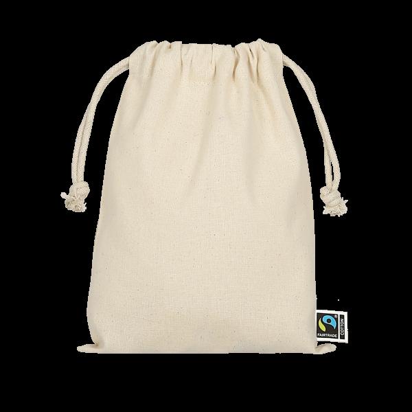 Texxilla Drawstring-Pouch made of Fairtrade-Cotton, 15 x 20 cm