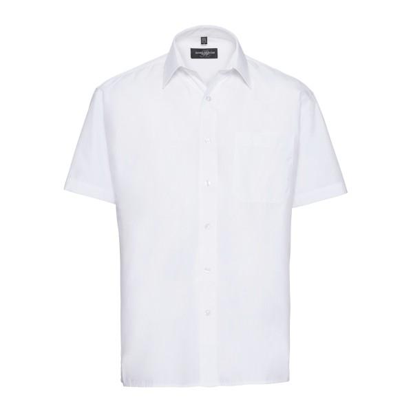 Klassisches Baumwollmischgewebe Popeline Hemd – Kurzarm