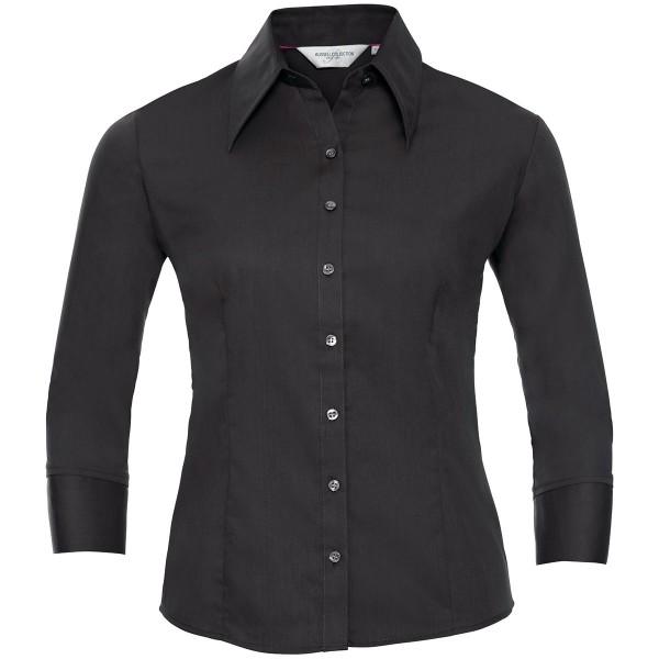 Körperbetonte Tencel® Bluse - 3/4 Arm