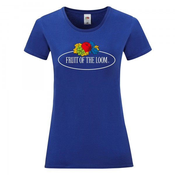 Fruit of the Loom Ladies Iconic T-Shirt with Vintage-Print
