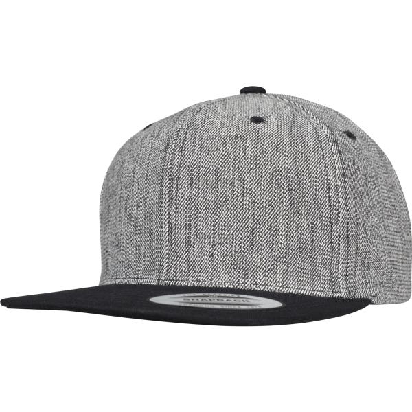 Melange Solid Snapback Cap