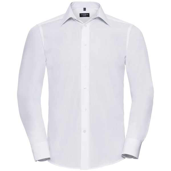 Men's Long Sleeve Tailored Poplin Shirt