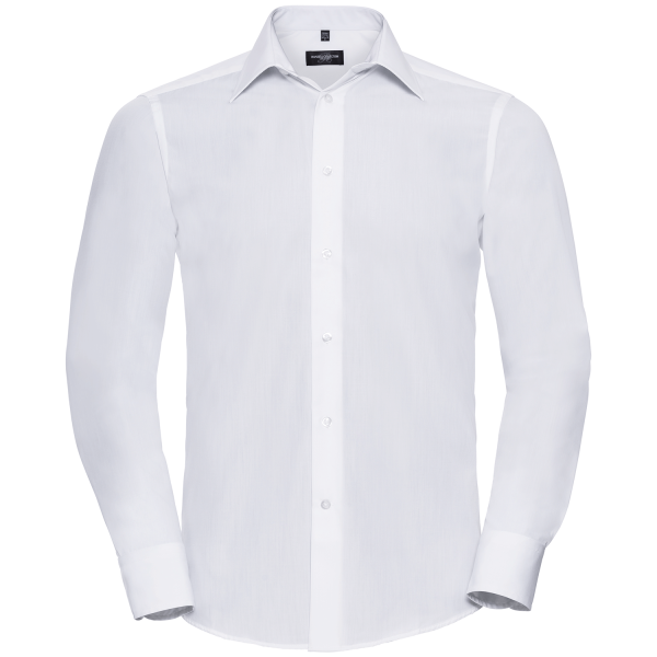 Tailliertes Popeline Hemd – Langarm