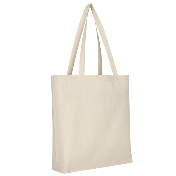 Texxilla Cotton Bag Classic with two long handles, bottom and side fold