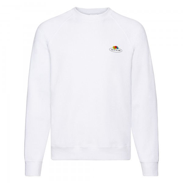 Fruit of the Loom Raglan Sweat mit kleinem Vintage-Logo