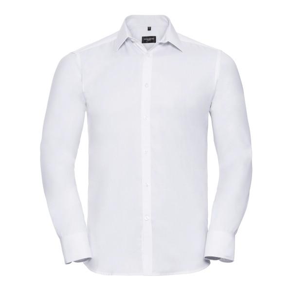 Men's Long Sleeve Tailored Herringbone Shirt