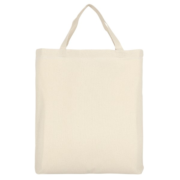 Cotton Bag Classic with two short handles and bottom fold