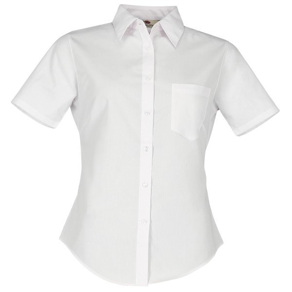 Ladies Poplin Shirt Short Sleeve