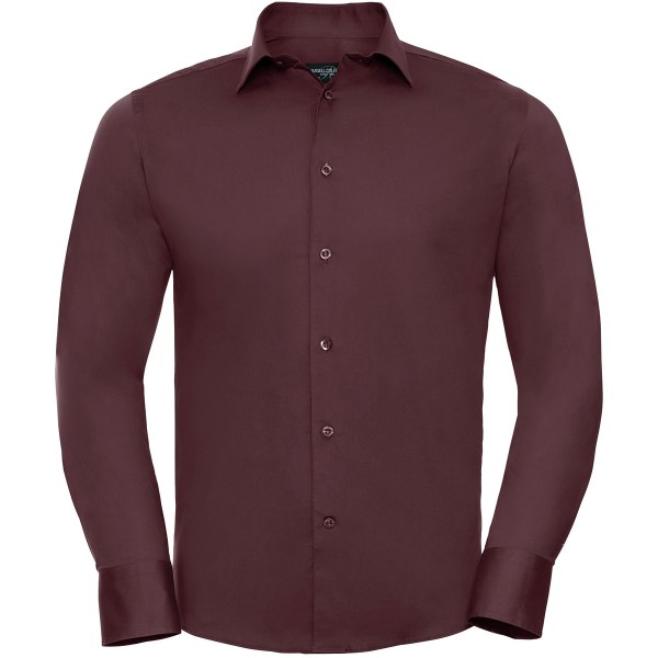 Men's Long Sleeve Fitted Stretch Shirt
