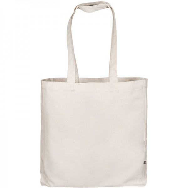 Canvas Bag Classic with two long handles, bottom and side fold