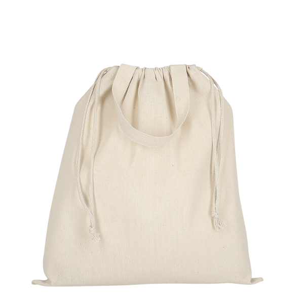 Texxilla Cotton Bag classic with two short handles and double drawstring