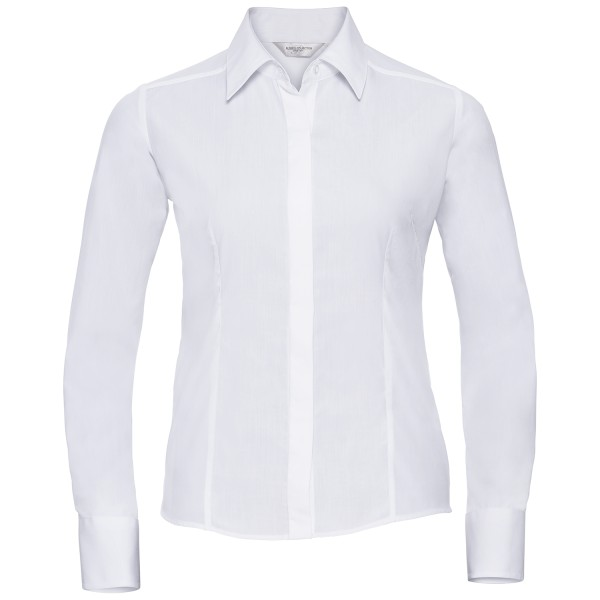 Ladies Long Sleeve Fitted Poplin Shirt